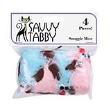 Savvy Tabby Snuggle Mice 4 Pk Cat Toy