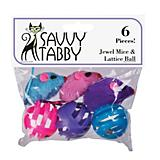 ST Jewel Mice and Lattice Balls 6Pk Cat Toy