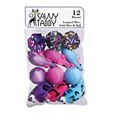 Savvy Tabby Assorted Mice and Ball 12Pk Cat Toy