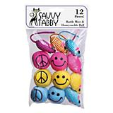 ST Rattle Mice and Honeysuckle Ball 12Pk Cat Toy