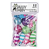 ST Assorted Mice and Checker Ball 12Pk Cat Toy
