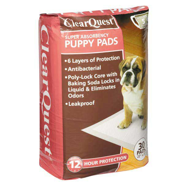 ClearQuest Super Absorbency Puppy Pads 30PK