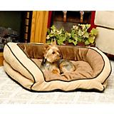 KH Mfg Bolster Couch Mocha Dog Bed