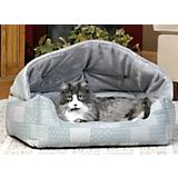 KH Mfg Hooded Lounge Sleeper Teal Dog Bed