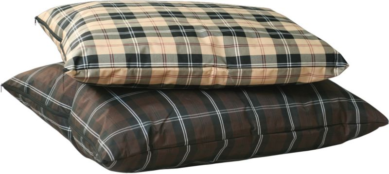 KH Mfg Indoor/Outdoor Tan Plaid Dog Bed Small