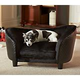 Enchanted Home Pet Snuggle Bed Black Dog Bed