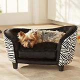 Enchanted Home Pet Snuggle Bed Zebra Dog Bed