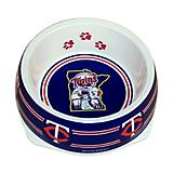 MLB Minnesota Twins Plastic Dog Bowl
