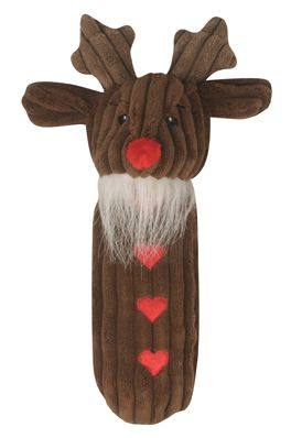 Hugglehounds Endless Squeak Reindeer Dog Toy