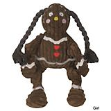 Hugglehounds Gingerbread Kids Knottie Dog Toy