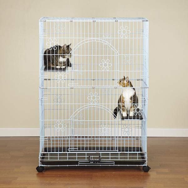 Crate Appeal Bloom Cat Cage Blue