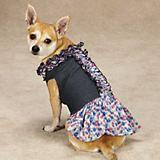 Zack and Zoey Denim Floral Dog Dress