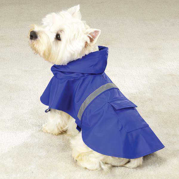 Guardian Gear Reflective Dog Rain Jacket SM BLU