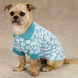 East Side Collection Hibiscus Dog Polo
