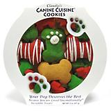 Claudias Holiday Paw Prints and Stripes Dog Treat