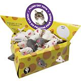 SPOT Plush Mice Cheesebox Cat Toy 24-Pack