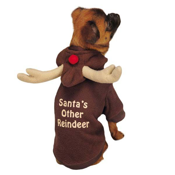 Casual Canine Reindeer Dog Hoodies Xsmall