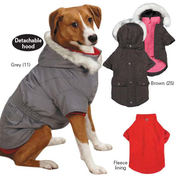 East Side Coll 3 in 1 Eskimo Dog Jacket XXS Gray