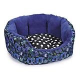 Isaac Mizrahi Floral Dot Dog Bed