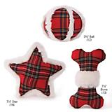 Zanies Snow Cap Tartan Dog Toy