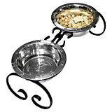 QT Dog Wrought Iron 2 Quart Pet Diner