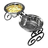 QT Dog Wrought Iron 3 Quart Pet Diner