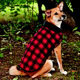 Fashion Pet Red Fleece Dog Coat