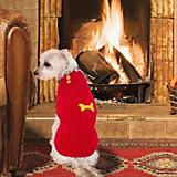Fashion Pet Button Neck Red Dog Sweater
