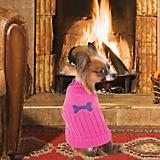 Fashion Pet Button Neck Pink Dog Sweater