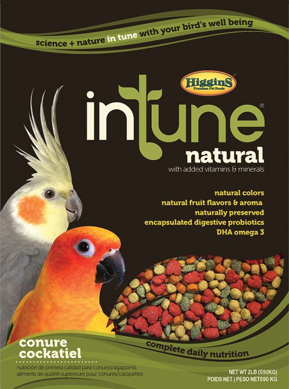 Higgins Intune Natural Con/Tiel Pellet Food 18lb