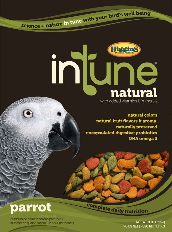 Higgins Intune Natural Parrot Pellet Food 3lb