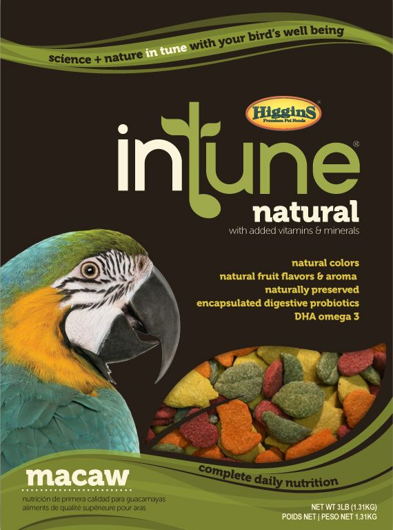 Higgins Intune Natural Macaw Pellet Food 18lb