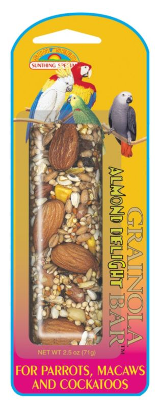 Grainola Bar Parrot and Lg Hookbill Treat Almond