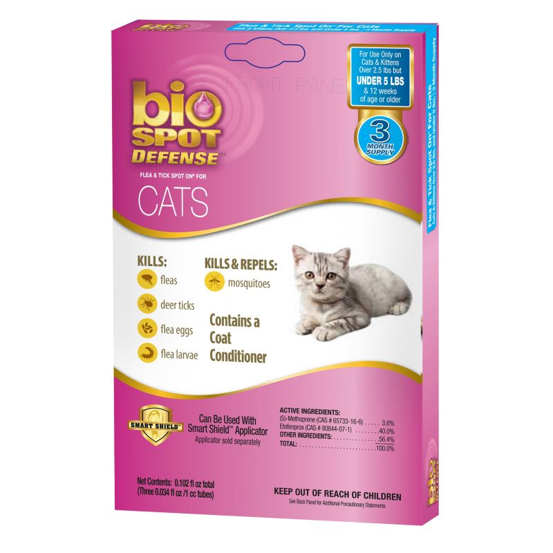 BioSpot Spot On for Cats 3 Month Refill Over 5lbs