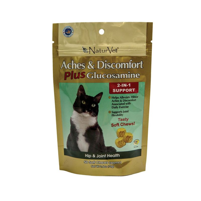 NaturVet Aches/Discomfort Soft Chew Cat Treat
