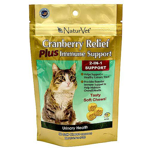 NaturVet Cranberry Relief Plus Cat Soft Chew