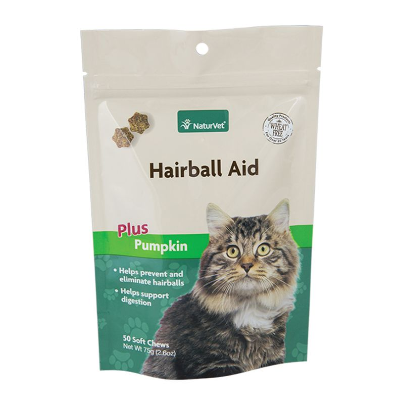 NaturVet Hairball Plus Vitamin Cat Soft Chew