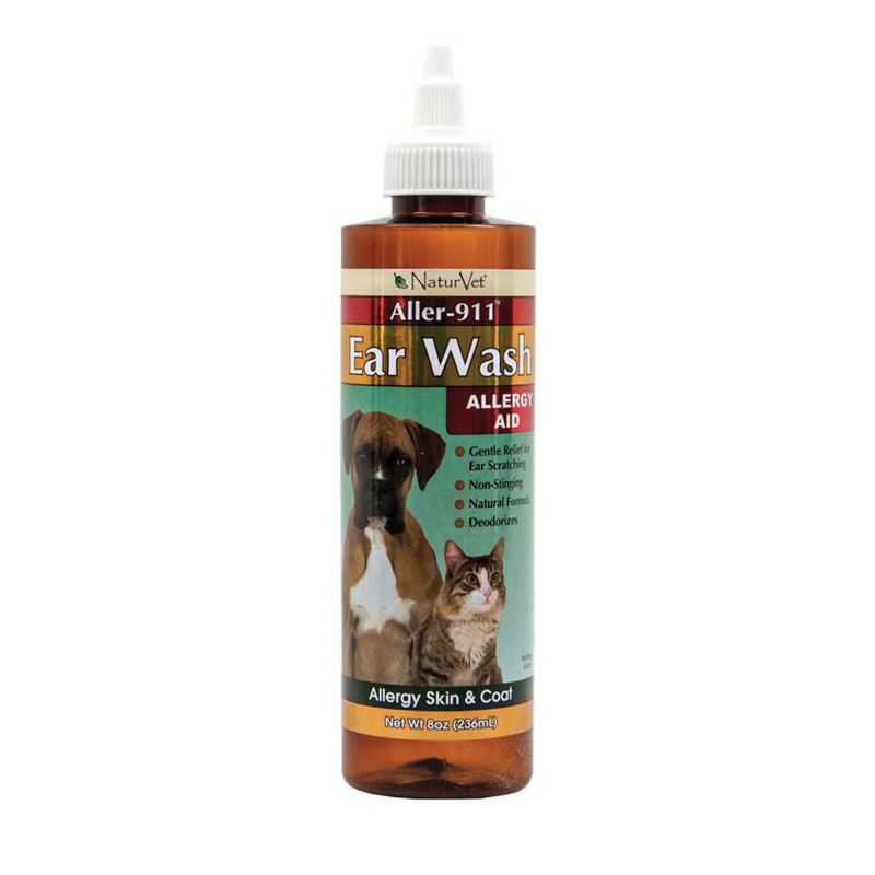 NaturVet Aller-911 Ear Wash For Pets