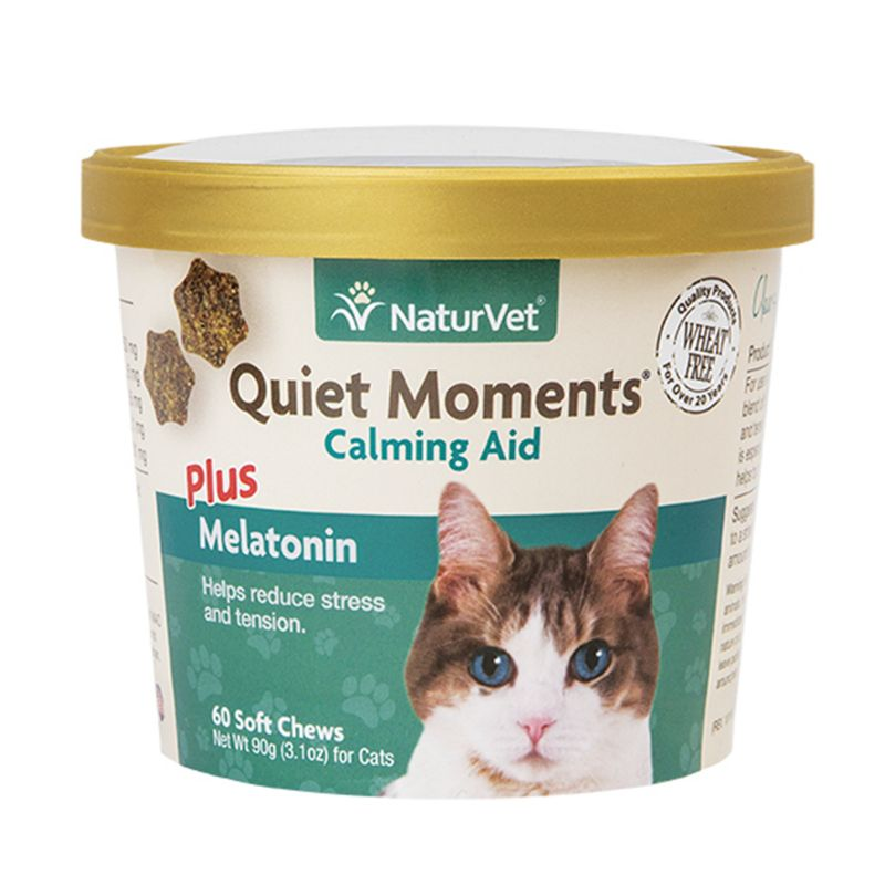 NaturVet Quiet Moments Cat Calming Aid Soft Chew