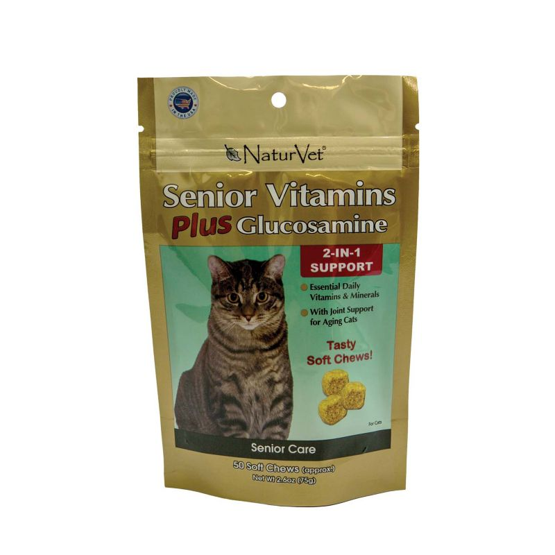NaturVet Senior Vitamin Plus Cat Soft Chew
