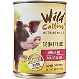 Wild Calling Country Best Pork Can Dog Food 12 Pk