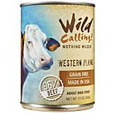 Wild Calling Western Plains Beef Can Dog Food 12Pk