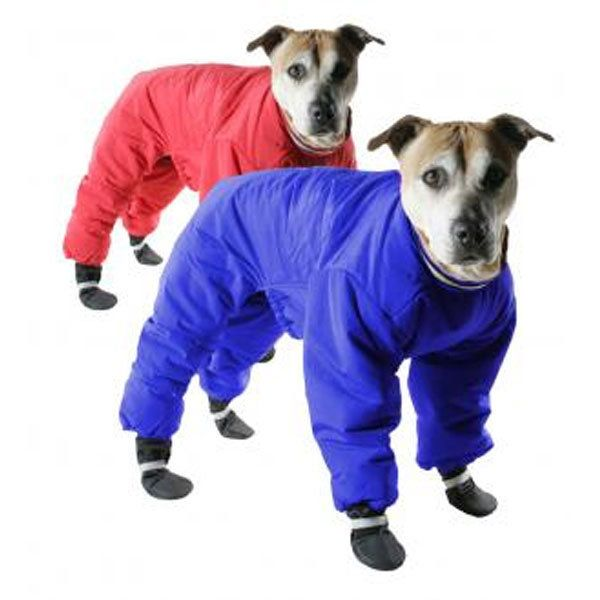 Muttluks Red Reversible Dog Snowsuit Size 24 (ACK LLC ML-DSS98-24-RBU 779922002095 Dog Supplies Clothes) photo