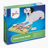 Zanies Funny Farm Treat Puzzle Dog Toy