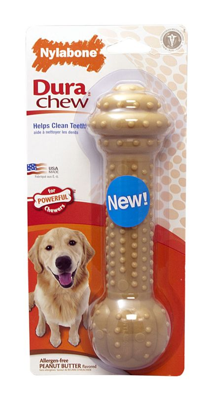 DuraChew Barbell Peanut Butter Dog Toy LG/XL