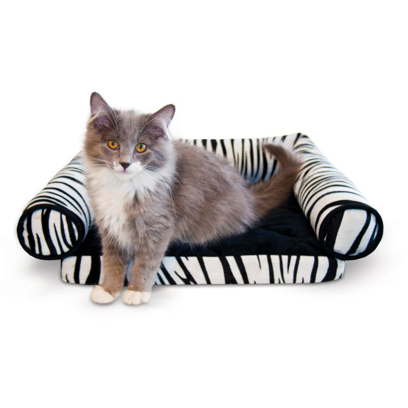 K and H Lazy Lounger Zebra Cat Bed