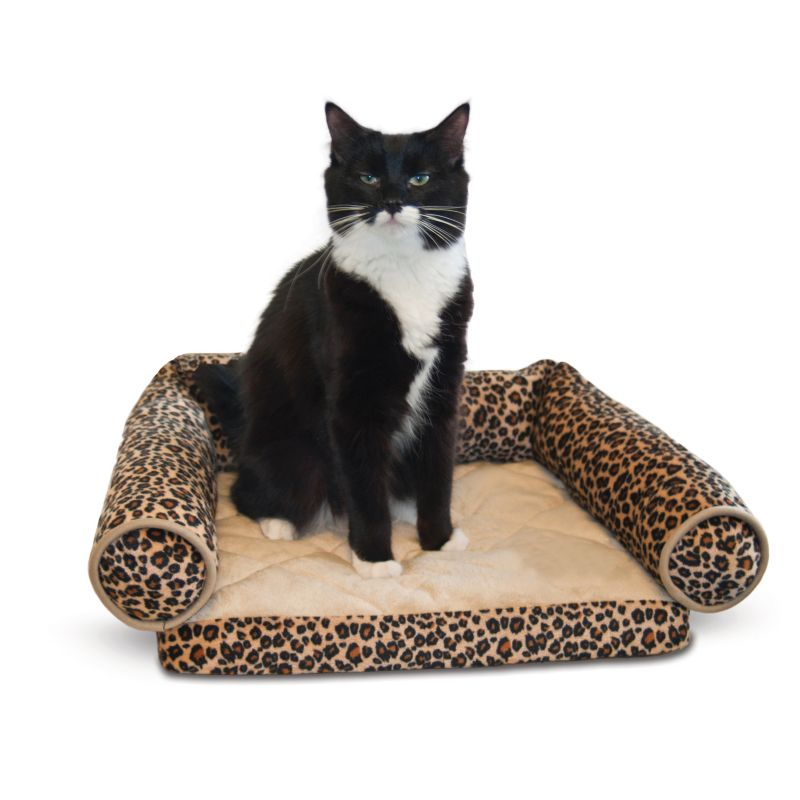 K and H Lazy Lounger Leopard Cat Bed