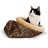 K and H Self Warming Leopard Kitty Sack