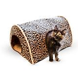 KH Mfg Leopard Kitty Camper Cat Bed