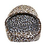 Dana Zoo Cat Hut Leopard Print Cat Bed